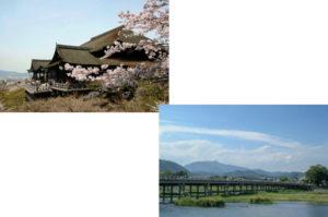 清水寺から嵐山(渡月橋)
