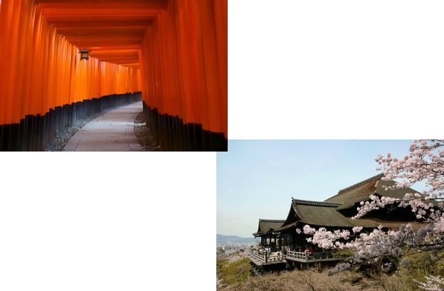 伏見稲荷大社から清水寺
