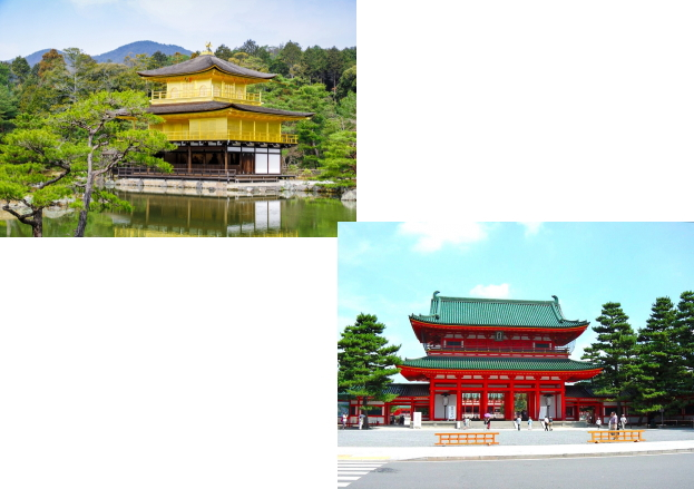 金閣寺から平安神宮