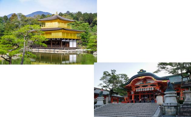 金閣寺から伏見稲荷大社