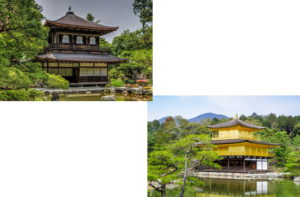 銀閣寺から金閣寺