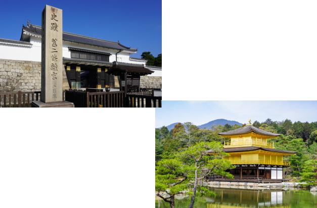 二条城から金閣寺
