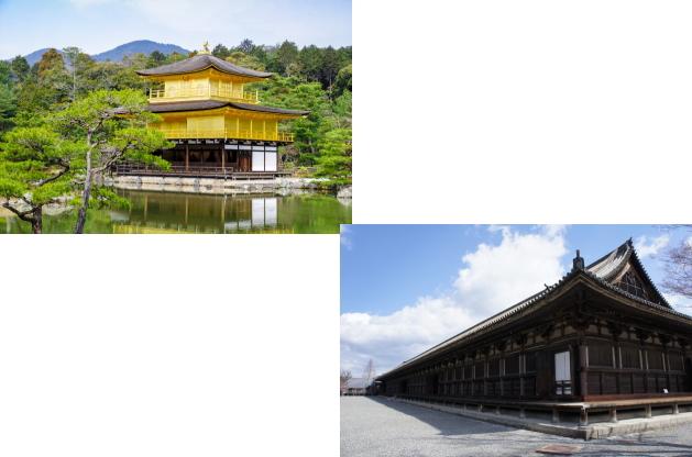 金閣寺から三十三間堂