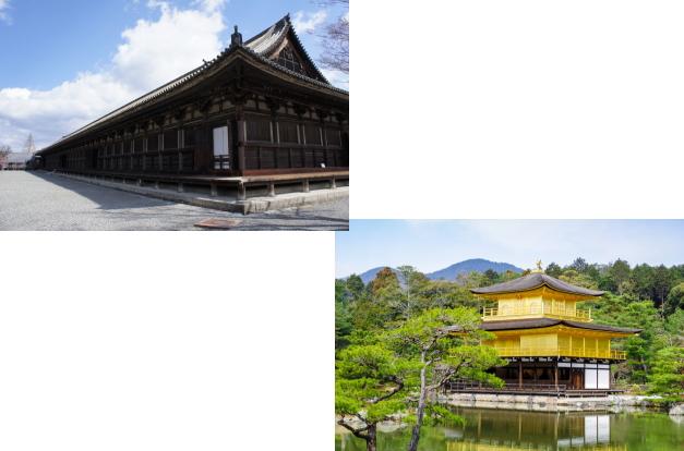 三十三間堂から金閣寺