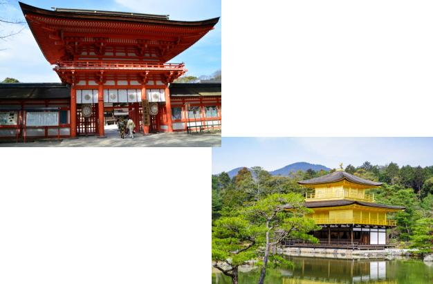 下鴨神社から金閣寺