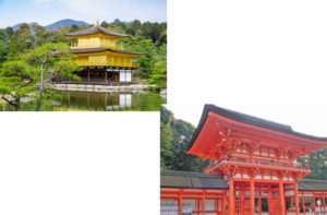 金閣寺から上賀茂神社