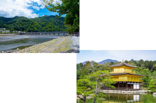 嵐山(渡月橋)から金閣寺