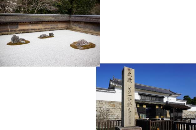 龍安寺から二条城