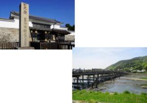 二条城から嵐山(渡月橋)