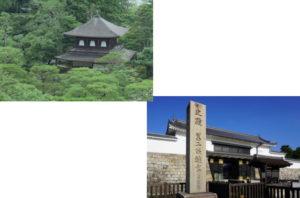銀閣寺から二条城